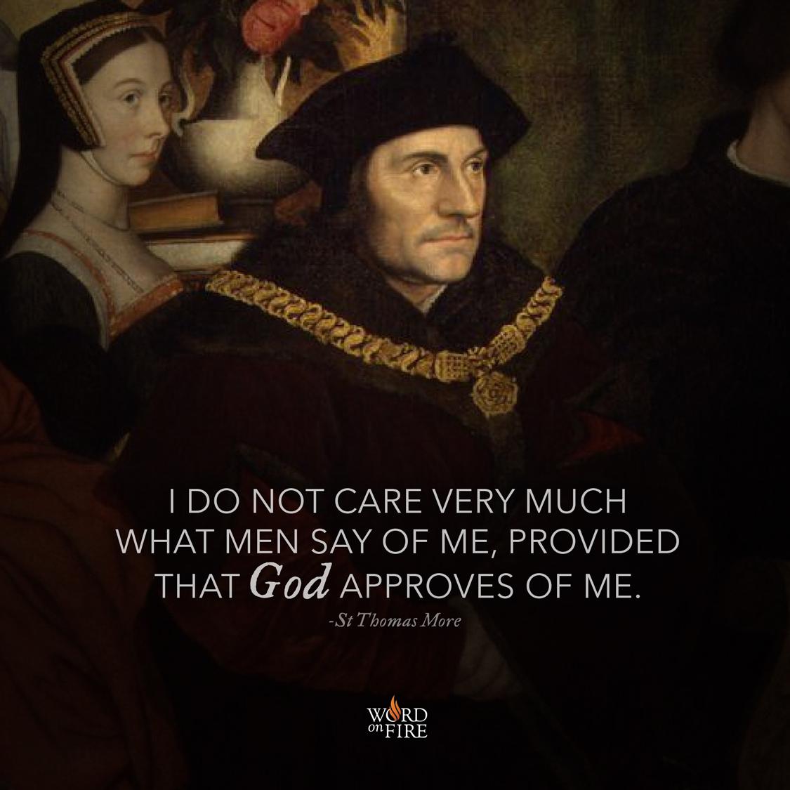 "PrayerGraphics.» St. Thomas More – ""I do not care very much"