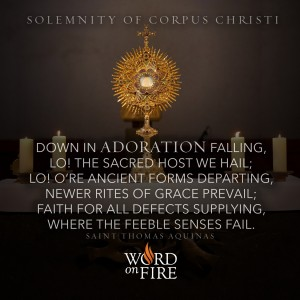 "Corpus Christi – ""Down in Adoration falling…"""