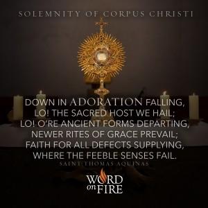 "Corpus Christi – ""Down in Adoration falling…"""