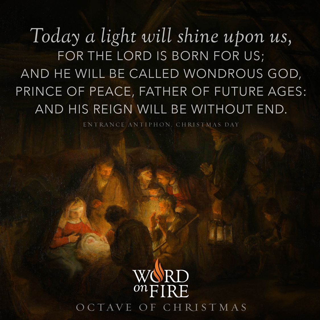"PrayerGraphics.com » Christmas Day – ""Today a light will shine upon us…"""