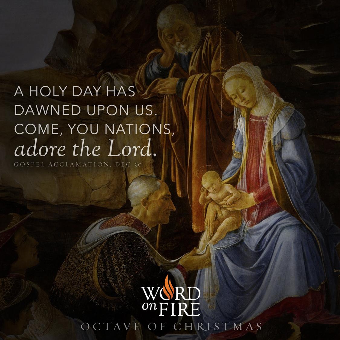 """PrayerGraphics.com » Octave of Christmas Day 6 – """"…Come, you nations ..."""
