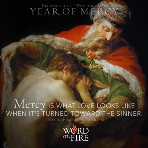 "Year of Mercy – ""Mercy is what Love looks like when it's turned toward the sinner."""
