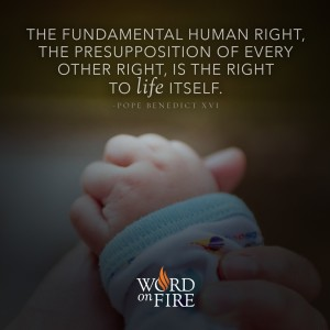 """The fundamental human right…"" -Pope Benedict XVI"