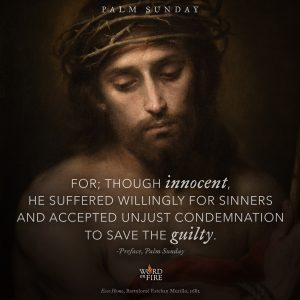 "Palm Sunday – ""Though innocent He suffered…"""