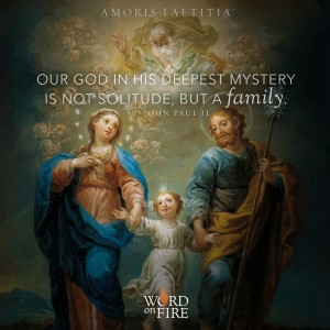 """Amoris Laetitia – """"Our God in his deepest mystery is not a solitude, but a family."""" -St. John Paul II"""