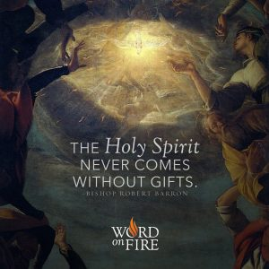 """The Holy Spirit never comes without gifts."" – Bishop Robert Barron"