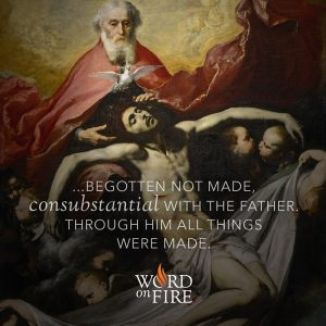 """…begotten not made, consubstantial with the Father. Through him all things were made."""