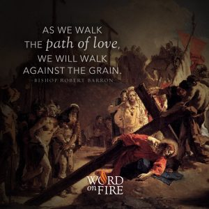 """As we walk the path of love, we will walk against the grain."" -Bishop Robert Barron"