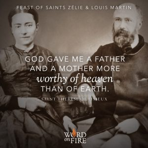 Feast of Saints Zelie and Louis Martin