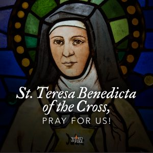 St. Teresa Benedicta of the Cross, pray for us!