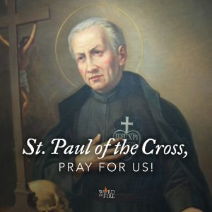 St. Paul of the Cross, pray for us!