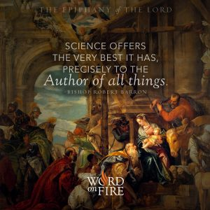 """""""Science offers the very best it has, precisely to the Author of all things."""" -Bishop Robert Barron"""
