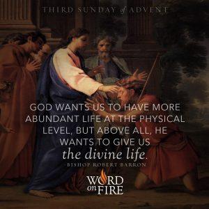 """God wants us to have more abundant life…"" -Bishop Robert Barron"