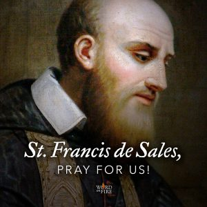 St. Francis de Sales, pray for us!