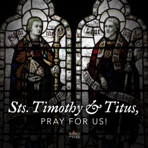 Sts. Timothy and Titus, pray for us!