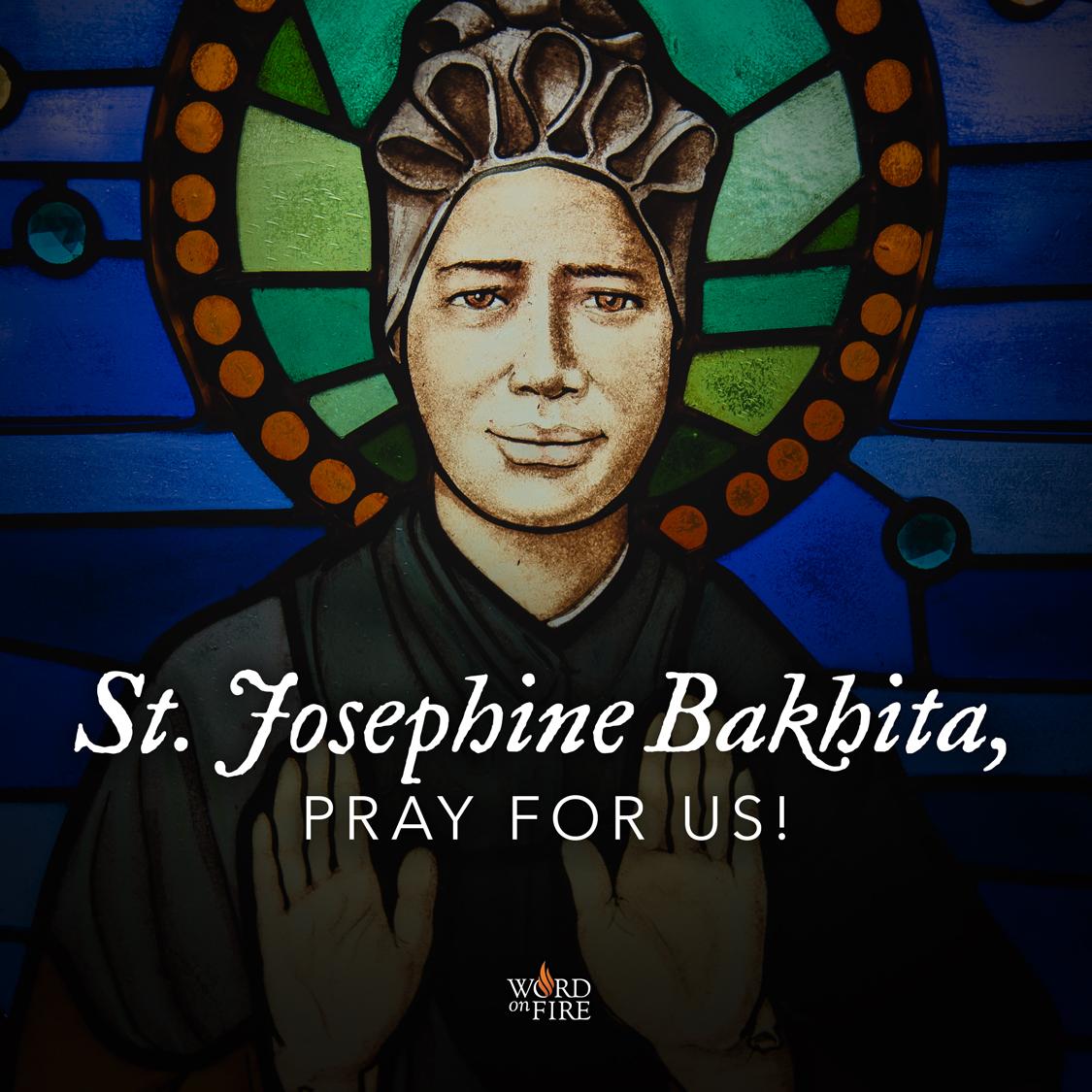 """Résultat de recherche d'images pour """"Sainte Joséphine Bakhita PRAY FOR US"""""""