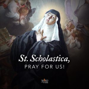 St. Scholastica, pray for us!