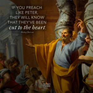 """""""If you preach like Peter, they will know that they've been cut to the heart."""" -Bishop Barron"""