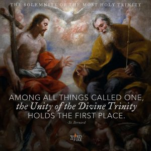 """Among all things called one, the Unity of the Divine Trinity holds the first place."" -St. Bernard"
