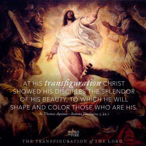 Transfiguration of the Lord – Thomas Aquinas quote