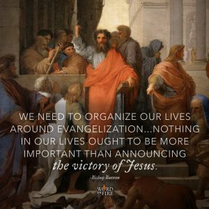"""We need to organize our lives around evangelization…"" -Bishop Barron"