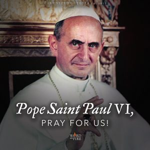 Pope St. Paul VI, pray for us!
